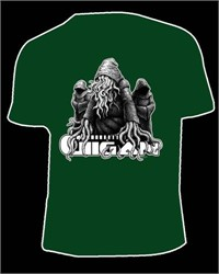 Gigan - Multi-Dimensional Fractal-Sorcery And Super Science Green Tshirt